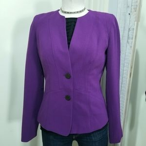 Calvin Klein Purple Seamed Knit Stretch Blazer 2